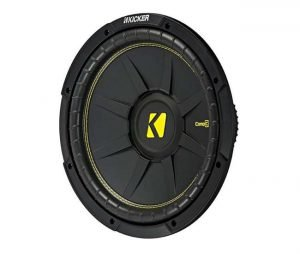 KICKER 44CWCS124 CompC 12 Inch 600 Watt 4 Ohm Single Voice Coil Car Audio Subwoofers with Polypropylene Cone