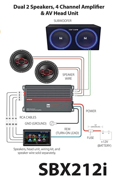 12 inch dual subwoofer wiring